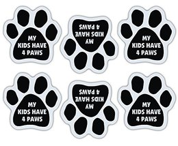 Crazy Sticker Guy Mini Paw Magnets (Set of 6) - My Kids Have 4 Paws - Dog or Cat - $7.99