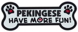 Dog Bone Shaped Magnets: Pekingese Have More Fun! | Cars, Trucks, Mailboxes - $6.99