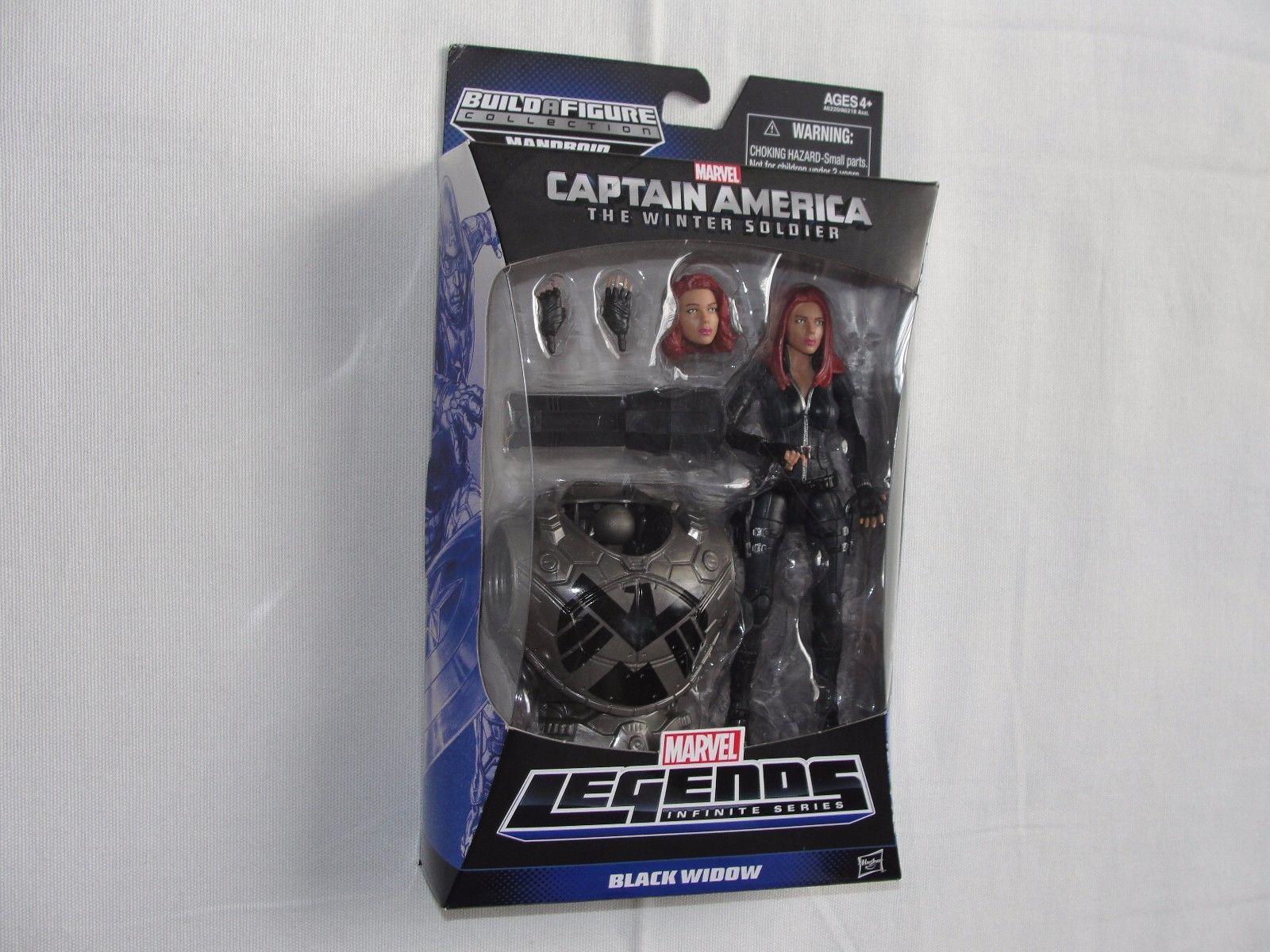 BLACK WIDOW Marvel Legends Infinite series CAPTAIN AMERICA Build A Figure New