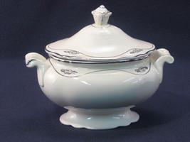 SUGAR BOWL BY HOMER LAUGHLIN CHINA - SILVER ROSE PATRICIAN VR-124 (4174) - $17.88