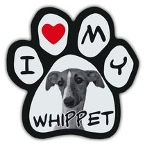 Picture Paws | Dog Paw Shaped Magnets: I LOVE MY WHIPPET | Car Magnet - €5,97 EUR