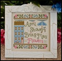 April Showers Bring May Flowers cross stitch chart Country Cottage Needleworks - $7.20