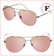 Gucci Techno Color 2245 Ruthenium Pink Violet Mirrored Steel Sunglasses GG0500 - $296.01