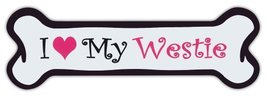 Pink Dog Bone Shaped Magnets: I Love My Westie (West Highland Terrier) |... - €5,97 EUR
