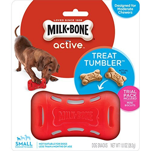 Milk-Bone Active Treat Tumbler, Interactive Dog Treat Dispensing Dog Toy, Small