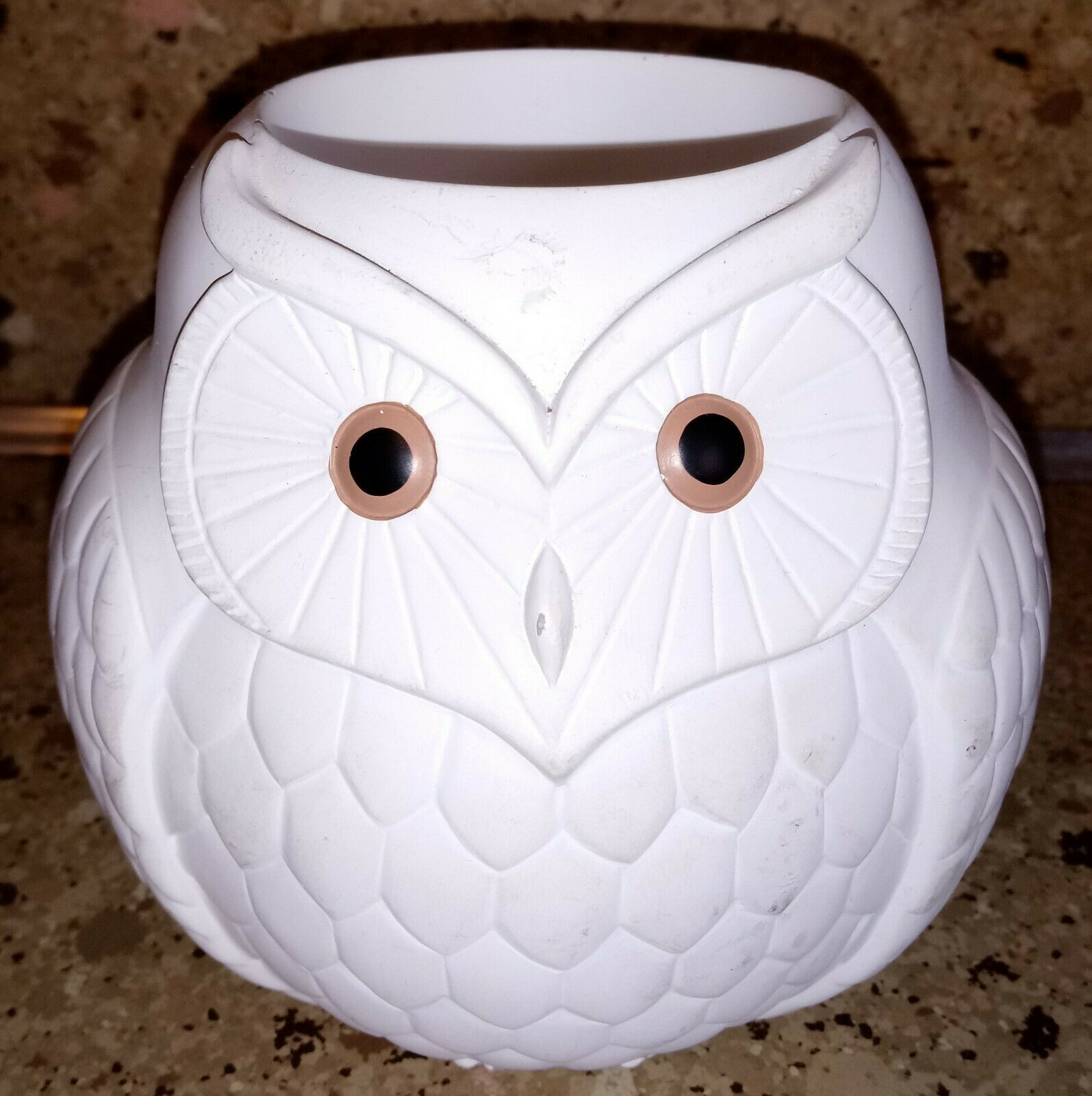 Partylite Mama & Baby Owl Duo Tea light Holders Set of 2 White