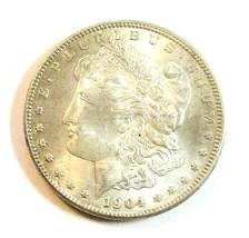 1904 O MORGAN SILVER DOLLAR  (UNC)  MS++ #200128 - $54.45