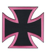 Motorcycle Biker Jacket Embroidered Patch (Large Back Patch) - Pink and ... - $14.99