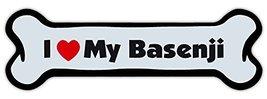 Crazy Sticker Guy Dog Bone Shaped Magnet - I Love My Basenji - Cars, Trucks, Ref - $6.99