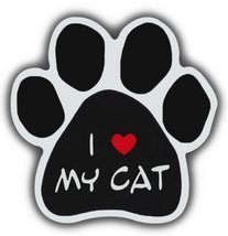 Cat Paw Shaped Magnets: I LOVE MY CAT | Cars, T... - $6.99
