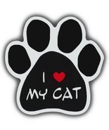 Cat Paw Shaped Magnets: I LOVE MY CAT | Cars, Trucks, Refrigerators - $6.99