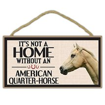 Crazy Sticker Guy Wooden Decorative Horse Sign - It's Not A Home Without an Amer - $12.99