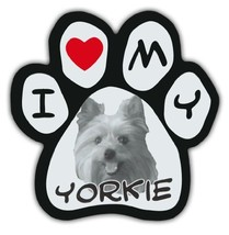 Picture Paws | Dog Paw Shaped Magnets: I LOVE MY YORKIE (YORKSHIRE TERRIER) - $6.99
