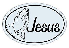 Crazy Sticker Guy Oval Shaped Car/Refrigerator Magnet - Jesus (Black/White Desig - $6.99