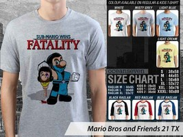 T shirt Mario Bros and Friends Many Color & Design Option - $10.99+