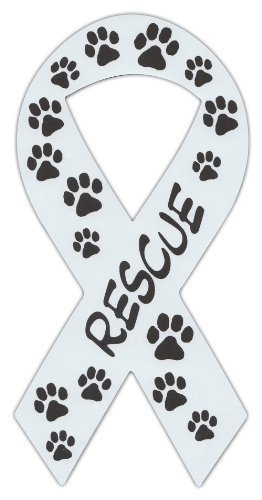 Primary image for Ribbon Shaped Magnets: Rescue (Dogs, Cats) Paw Design | Cars, Trucks, Support
