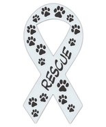 Ribbon Shaped Magnets: Rescue (Dogs, Cats) Paw Design | Cars, Trucks, Su... - $6.99