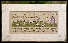 Sheep in the Meadow cross stitch chart Country Cottage Needleworks - $7.20