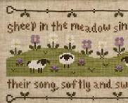 Sheep in the Meadow cross stitch chart Country Cottage Needleworks