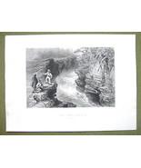CANADA Falls on Montmorenci River - 1841 Engrav... - $16.34