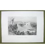 CANADA Ottawa River near Bytown - 1841 Engravin... - $19.31