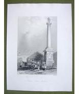 CANADA Quebec Nelson's COlumn - 1841 Engraving ... - $16.34