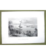 CANADA Lake Ontario Bay of Quinte - 1841 Engrav... - $16.34