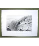 CANADA Montmorency Falls Summit - 1841 Engravin... - $16.34