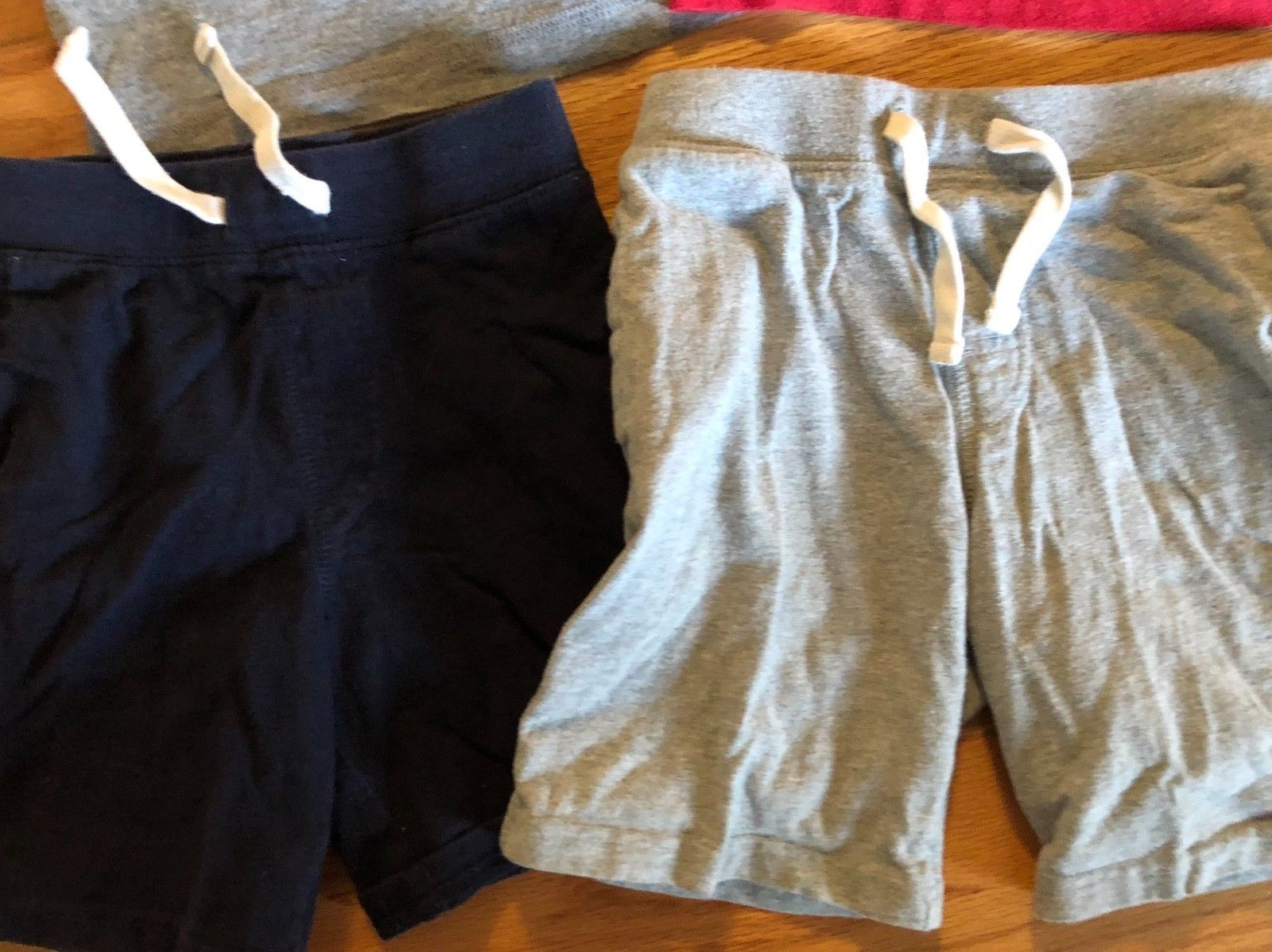 BABY GAP Tank Top + Knit Pull On Shorts Lot of 6 - Summer Outfits Blue Gray Red image 5