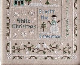 Snowflake Serenade holiday cross stitch chart Country Cottage Needleworks