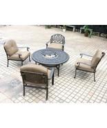 Deep Seating Patio Furniture 5 Piece Outdoor Conversation Set Elisabeth ... - $2,099.00