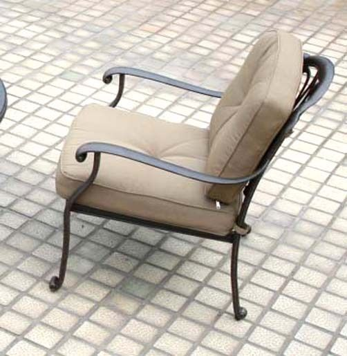 Deep Seating Patio Furniture 5 Piece Outdoor Conversation Set Elisabeth aluminum image 2