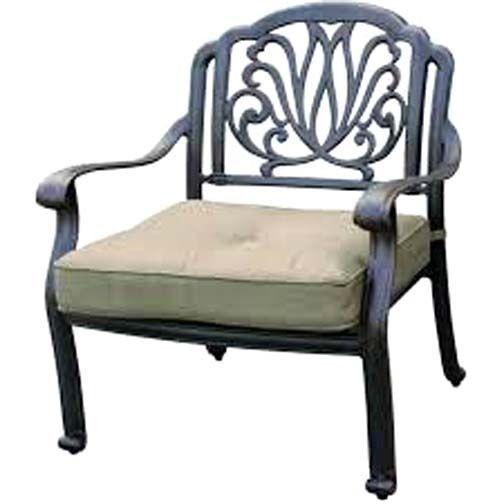 Deep Seating Patio Furniture 5 Piece Outdoor Conversation Set Elisabeth aluminum image 4