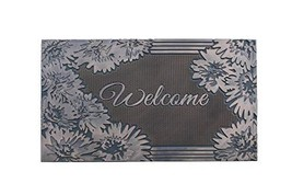 """A1 Home Collections A1HCRB6129 Floral Welcome Rubber Pin Doormat, 18""""X 30"""", - $33.38"""
