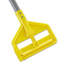 Invader Fiberglass Side-Gate Wet-Mop Handle, 1 dia x 60, Gray/Yellow - $25.15