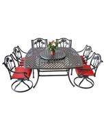 Patio furniture Cast Aluminum 8 piece Palm Tree outdoor dining set Antique - $1,945.00