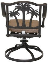 Patio furniture Cast Aluminum 8 piece Palm Tree outdoor dining set Antique image 5