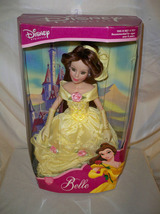 Disney Princess Belle 2001 Brass Key NRFB Yellow Gown Porcelain Doll (J) - $69.99
