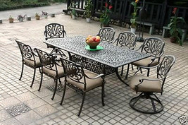Outdoor Patio furniture Elisabeth 9pc set cast aluminum Elsabeth Desert ... - $2,299.00