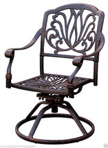 Outdoor Patio furniture Elisabeth 9pc set cast aluminum Elsabeth Desert Antique image 4