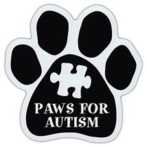 Crazy Sticker Guy Dog Paw Shaped Car Magnet - Paws for Autism - Dog Walk/Run Sup - $6.99