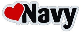 Crazy Sticker Guy Car/Refrigerator Word Magnet - Love Navy (Heart) - Support Our - $6.99