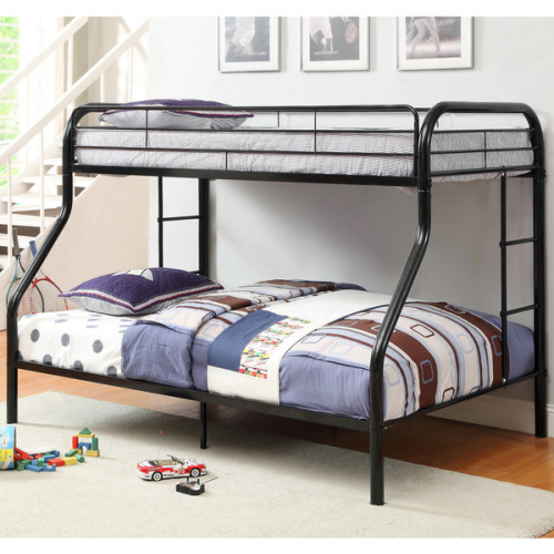 Kids Childrens Unique Twin over Full Metal Bunk Bed
