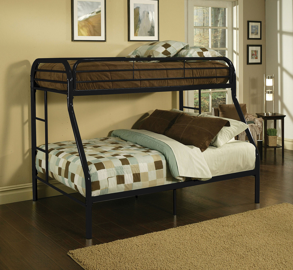 kids childrens unique twin over full metal bunk bed bedroom furniture. Black Bedroom Furniture Sets. Home Design Ideas
