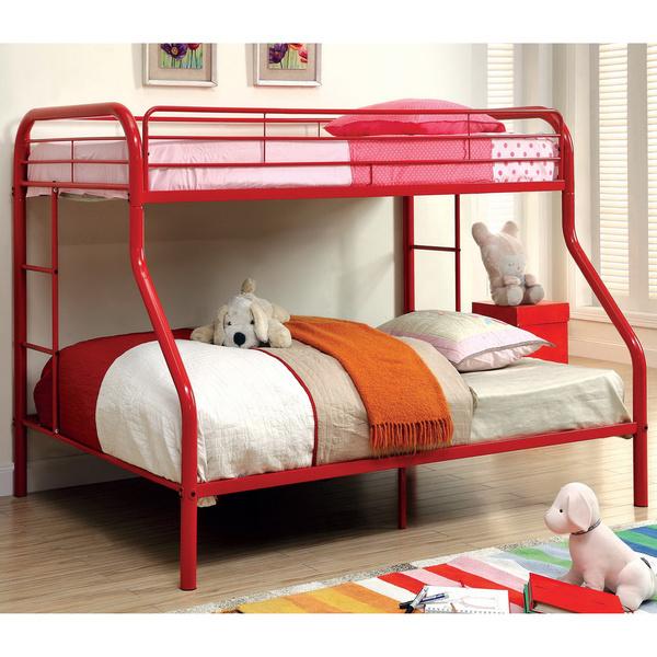 kids childrens unique twin over full metal bunk bed bedroom furniture. Black Bedroom Furniture Sets. Home Design Ideas