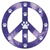 Peace Sign Shaped Magnets (See Through): Purple... - $6.99