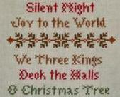 Christmas Carols holiday cross stitch chart Country Cottage Needleworks