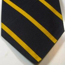 BROOKS BROTHERS Rich Navy Gold Stipe Skinny Vintage 100% Silk Tie  - $29.99