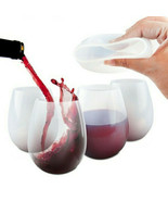 Silicone Glasses, Stemless Silicone Glasses Set of 4 Portable Squishy Cups - $14.97