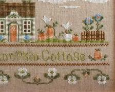 Pumpkin Cottage fall autumn cross stitch chart Country Cottage Needleworks